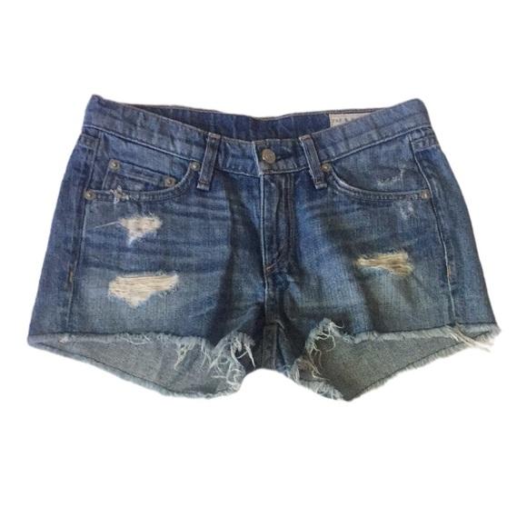 Rag & Bone Jean Shorts Distressed w/ Holes 24
